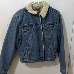 Levi's sherpa lined denim jacket